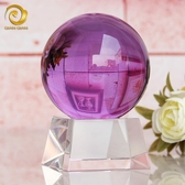 招財水晶球風水透明紫轉運家居家裝飾品電視柜客廳辦公室玻璃擺件