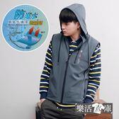 NP機能防潑水保暖加絨連帽背心外套(共二色)● 樂活衣庫【A-104】