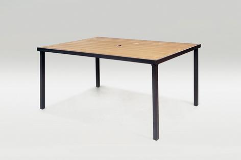 【 IS空間美學】鐵製塑木休閒長桌