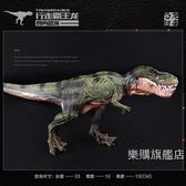 動物模型大號實心仿真野生動物恐龍模型霸王龍暴龍男女孩兒童玩具尾芽禮物