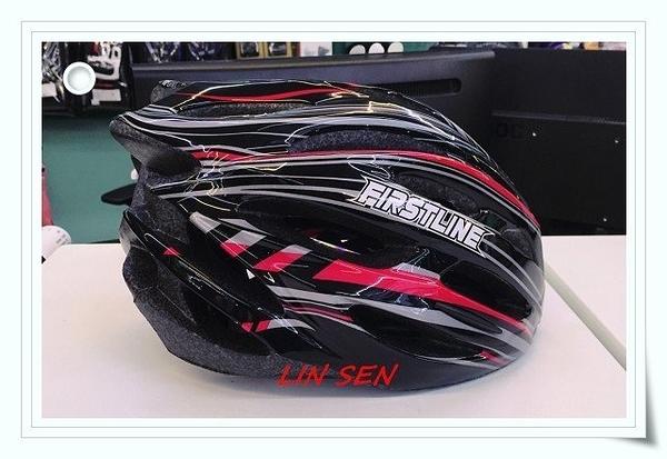 M2R自行車帽,腳踏車帽,First Line 031-F/黑紅