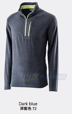 【山水網路商城】荒野 WILDLAND 男款 遠紅外線PILE保暖上衣/刷毛衣/保暖排汗衣 0A22506 深藍色
