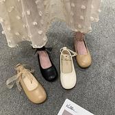 樂福鞋女2020春季新款正韓百搭平底學生一字扣單鞋女鞋軟底奶奶鞋【Ifashion·全店免運】