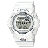 【CASIO】 G-SHOCK 活力充沛計步藍芽運動電子錶-白(GBD-800-7)