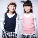 Mini Jule女童 背心 麻花針織前短後長側開衩背心(共2色)