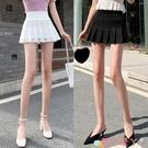 超短裙蕾絲超短裙女高腰百摺裙小個子半身裙無內襯安全褲A字裙2021新款 愛丫