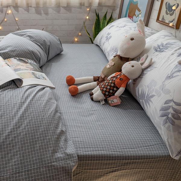 碳化森林 D2雙人床包薄被套四件組 100%精梳棉 台灣製 棉床本舖