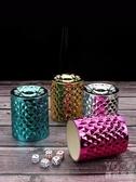 新款電鍍夜店篩盅色盅直筒篩盅酒吧骰盅色子盅骰子色盅 優尚良品