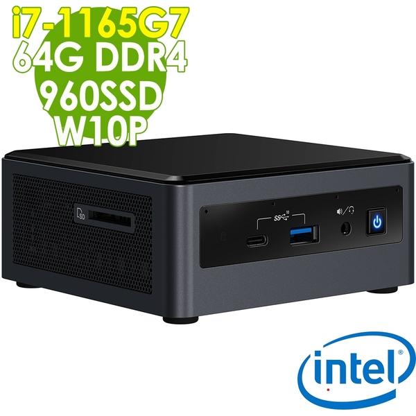 【現貨】Intel 無線迷你電腦 NUC i7-1165G7/64G/960SSD/W10P