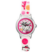 Hello Kitty 玩樂星球造型腕錶-白
