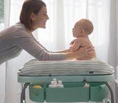 尿布台 義大利換尿布台嬰兒按摩台撫觸台多功能折疊嬰兒洗澡台 夢藝家