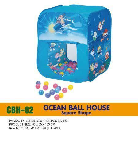Ching Ching親親-方形帳篷海洋球屋+100球CBH-02[衛立兒生活館]