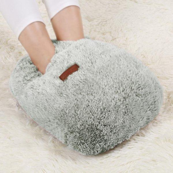 木之林充電暖腳寶電暖鞋電熱墊暖腳器插電熱水袋保暖鞋床上睡覺用