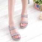 涼鞋 灰 真皮平底 涼鞋女 夏季《生活美學》