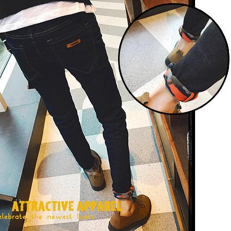 ※現貨 素面皮標彈力小腳牛仔褲 2色 28-36碼【CM65123】