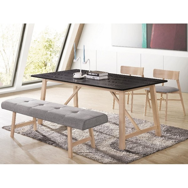 餐桌 AM-494-1 烏托邦實木6尺餐桌 (不含椅子)【大眾家居舘】