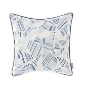 HOLA 亞倫印花抱枕45x45cm 線紋藍