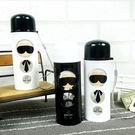 水杯   黑白時尚圓圈老先生玻璃杯250ml 水瓶 瓶子 咖啡杯 隨行杯 水壺 【KCG092】-收納女王