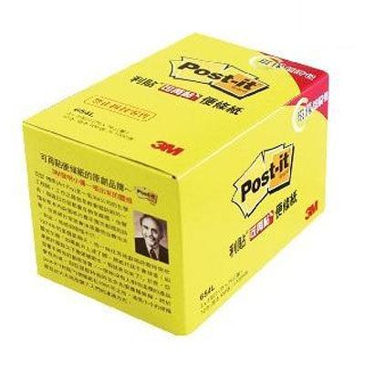 【奇奇文具】【3M Post-it 便條紙】654L黃 可再貼經濟包3×3 /100張‧12本/盒