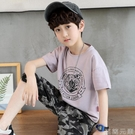 男童短袖T恤夏裝新款兒童純棉半袖男孩夏季中大童韓版短袖潮 雙十二全館免運