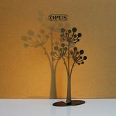 OPUS 歐式鐵藝飾品架/金屬首飾座/收納架(蒲公英_黑)