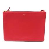 CELINE 賽琳 紅色牛皮斜背包 Trio Shoulder Bag 【二手名牌BRAND OFF】