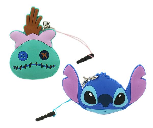 【卡漫城】 Stitch 防塵塞 & 捲線器 兩款選一 ㊣版 史迪奇 星際寶貝 醜丫頭 Scrump 耳機 夾式 集線器