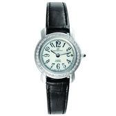 【台南 時代鐘錶 勞斯丹頓】ROSDENTON 玩味時間典雅女錶 5011LB-6W 黑 25mm