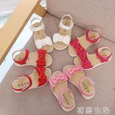 凉鞋女童涼鞋夏季韓版中大童女孩蝴蝶結公主鞋寶寶鞋子兒童涼鞋女 初語生活