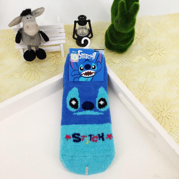 女衣迪士尼史迪奇襪子冬天保暖羽絨直版襪女衣
