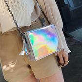 2018新款鐳射小單肩斜挎小包果凍包