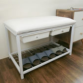 休閒椅 鞋櫃 鞋架【SBW004】高收納機能二抽軟墊穿鞋椅 Amos