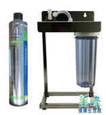 美國EVERPURE賓特爾愛惠普4HL二道式白鐵腳架淨水器.過濾器QL2濾頭蓋4720元(可替代H104)
