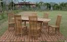 【南洋風休閒傢俱】戶外休閒桌椅系列-150公分柚木延長桌椅組 戶外實木餐桌椅 適庭院(#150T #08T)