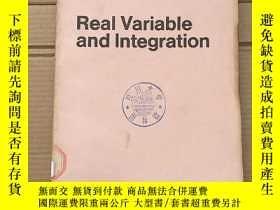 二手書博民逛書店real罕見variable and integration(P1509)Y173412
