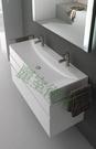【麗室衛浴】瑞士GEBERIT Xeno2系列 120*48CM 雙孔臉盆 500.550.01.1