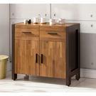 【森可家居】巴菲特2.7尺餐櫃 7ZX828-2 收納廚房櫃 中島 LOFT復古工業風