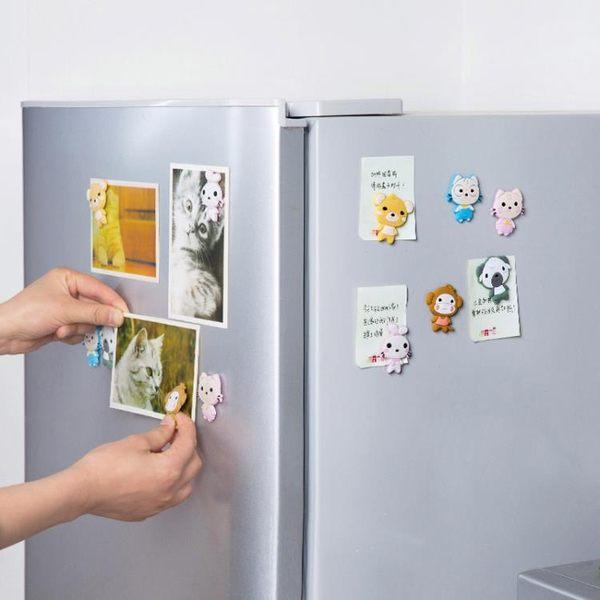 [超豐國際]可愛動物冰箱貼創意卡通磁力貼 廚房磁鐵留言貼吸鐵石磁