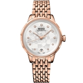 母親節推薦款 MIDO 美度 Rainflower 花雨系列機械女錶-玫瑰金/34mm M0432073310600