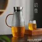 豎紋玻璃冷水壺套裝茶壺耐高溫防爆涼白開玻璃壺家用大容量涼水壺CY『新佰數位屋』