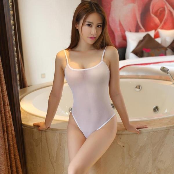 女式性感情趣內衣吊帶連體網紗透明誘惑吊帶連身透視高叉泳衣