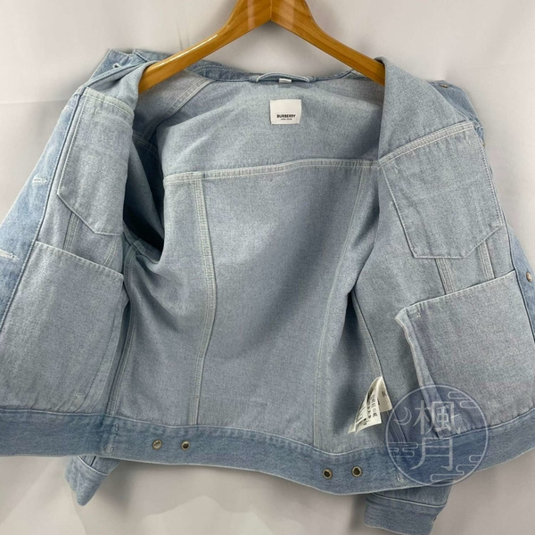 BRAND楓月 BURBERRY 8026710 牛仔 單寧 白LOGO 外套 #UK2 牛仔外套 休閒外套