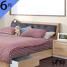 床頭箱【UHO】艾美爾6尺雙人加大下掀式皮革床頭箱 免運費 HO18-427-3 442-3
