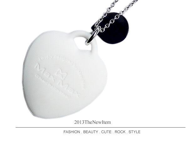【完全計時】手錶館│ Max Max 限量精密陶瓷矽膠輕量玩色項鍊 愛戀情人 優惠禮物 兩色