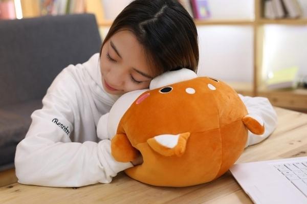 【4款】胖嘟嘟娃娃抱枕 柴犬 哈士奇 小雞 暖手枕 生日禮物 客廳擺設 聖誕節交換禮物