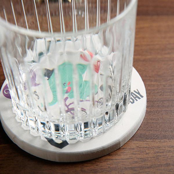 【BlueCat】天然矽藻泥吸水防滑隔熱杯墊 (圓)