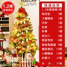 聖誕樹 【現貨】1.2cm帶燈聖誕樹裝飾品商場店鋪裝飾聖誕樹套餐擺件【快速出貨】