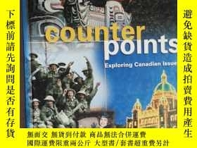 二手書博民逛書店英文原版罕見counter points Exploring Canadian Issues 探索加拿大问题Y