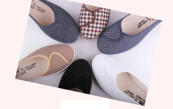 【火速出貨】韓版甜美森林系楔型坡跟布面牛津休閒鞋-白36【187998623351】