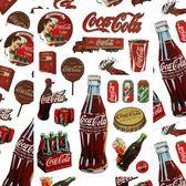 A4可口可樂易拉罐瓶裝飲料拉桿箱筆記本貼畫死飛滑板吉他貼紙防水【韓衣舎】